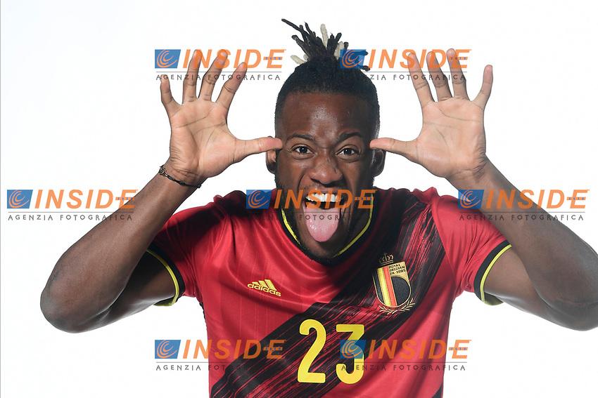 Michy Batshuayi forward of Belgium  <br /> Tubize 12/11/2019 <br /> Calcio presentazione della nuova maglia della Nazionale del Belgio <br /> Photo De Voecht  Kalut/Photonews/Panoramic/insidefoto<br /> ITALY ONLY