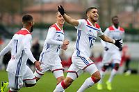 Hamza Rafia celebrates scoring Olympique Lyonnais opening goal during Lyon Under-19 vs Manchester City Under-19, UEFA Youth League Football at Groupama OL Academy on 27th November 2018