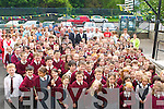 John O'Donoghue meets the pupils at the official opening of the new refurbishment in Fossa NS on Friday   Copyright Kerry's Eye 2008