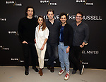 Adam Driver, Keri Russell, David Furr, Brandon Uranowitz and Michael Mayer attend the 'Burn This' cast photo call at the New 42nd Street Studios on March 7, 2019 in New York City.