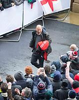 Englands' Head Coach Eddie Jones arrives<br /> <br /> Photographer Bob Bradford/CameraSport<br /> <br /> NatWest Six Nations Championship - England v Wales - Saturday 10th February 2018 - Twickenham Stadium - London<br /> <br /> World Copyright &copy; 2018 CameraSport. All rights reserved. 43 Linden Ave. Countesthorpe. Leicester. England. LE8 5PG - Tel: +44 (0) 116 277 4147 - admin@camerasport.com - www.camerasport.com