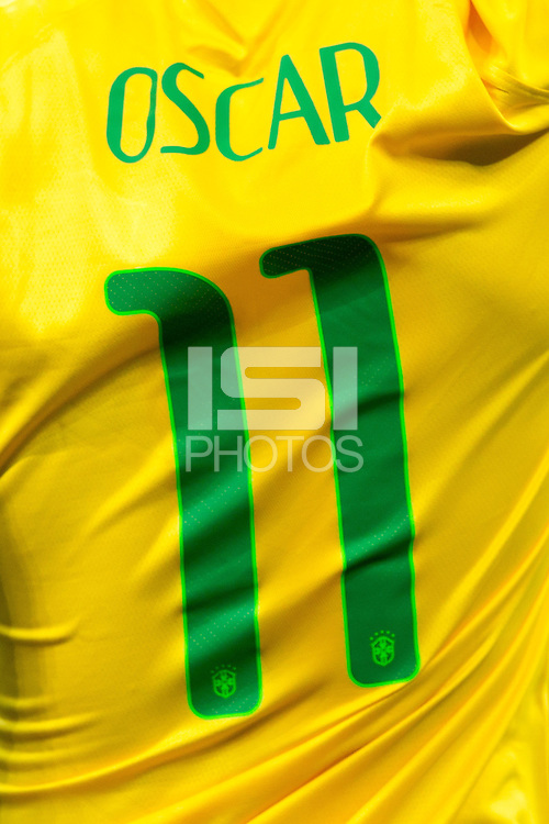 The shirt of Oscar of Brazil