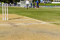 Condition of cricket pitch before Day 4 of the Second International Cricket Test match, New Zealand V England, Hagley Oval, Christchurch, New Zealand, 2nd April 2018.Copyright photo: John Davidson / www.photosport.nz