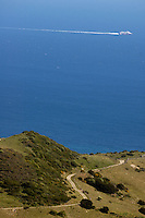 Winding coastal road of e5 n340 highway near Tarifa, Andalusia, Spain.