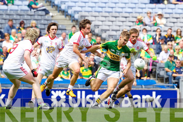 Shane O'Connor Kerry against David Mulgrew and Rhys QuinnTyrone  in the All Ireland minor Quarter Final at Croke Park on Sunday.