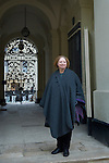 Hillary Mantel on the steps of the Clarendon Building on her way to the Sheldonian Theatre during the Sunday Times Oxford Literary Festival, UK, 16 - 24 March 2013.<br />