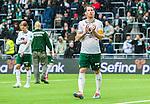 Stockholm 2015-05-30 Fotboll Allsvenskan Hammarby IF - Halmstads BK :  <br /> Hammarbys Johan Persson tackar publiken efter matchen mellan Hammarby IF och Halmstads BK <br /> (Foto: Kenta J&ouml;nsson) Nyckelord:  Fotboll Allsvenskan Tele2 Arena Hammarby HIF Bajen Halmstad Halmstads BK HBK portr&auml;tt portrait