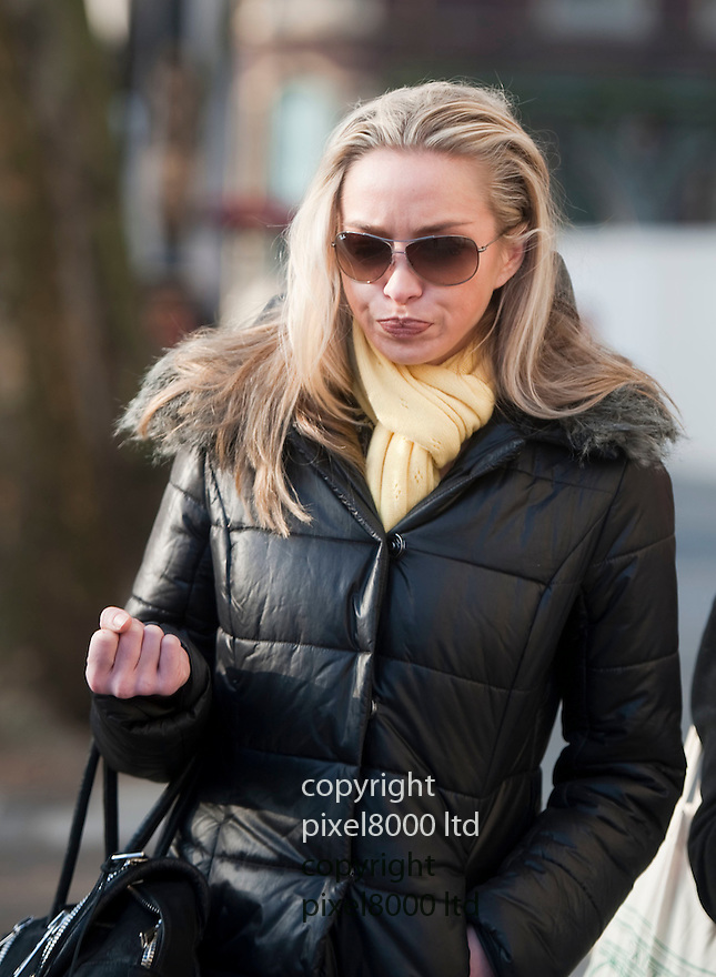 HIgh Court RCJ  16.1.13<br /> Noelle Reno girlfriend of Scot Young leaves the High Court in London today after he was jailed <br /> <br /> <br /> <br /> Pic by Gavin Rodgers/Pixel 8000 Ltd