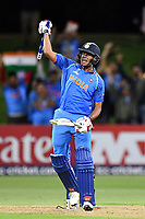 India's opening batsman Manjot Kalra celebrates the victory during the ICC U-19 Cricket World Cup 2018 Finals between India v Australia, Bay Oval, Tauranga, Saturday 03rd February 2018. Copyright Photo: Raghavan Venugopal / © www.Photosport.nz 2018 © SWpix.com (t/a Photography Hub Ltd)
