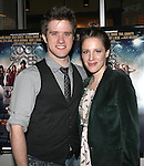 Broadway Stars Andy Truschinski and Jessie Mueller.attending  a screening of 'Rock Of Ages' at the Regal E-Walk Stadium Theaters in New York City on June 11, 2012.