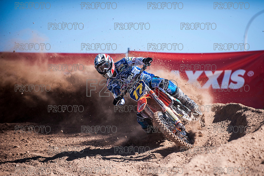 Rider at Spanish Motocross Championship at Albaida circuit (Spain), 22-23 February 2014