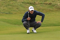 Joakim Lagergren (SWE) on the 2nd green during Round 2 of the Alfred Dunhill Links Championship 2019 at Kingbarns Golf CLub, Fife, Scotland. 27/09/2019.<br /> Picture Thos Caffrey / Golffile.ie<br /> <br /> All photo usage must carry mandatory copyright credit (© Golffile | Thos Caffrey)