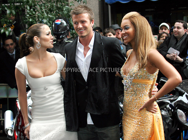 WWW.ACEPIXS.COM . . . . .  ... . . . . US SALES ONLY . . . . .....MADRID, FEBRUARY 23, 2005....Beyonce Knowles, David Beckham and Jennifer Lopez in Madrid to launch the Pepsi Spot campaign which took place at the Circulo De Bellas Artes.....Please byline: FAMOUS-ACE PICTURES-F. VAZQUEZ... . . . .  ....Ace Pictures, Inc:  ..Philip Vaughan (646) 769-0430..e-mail: info@acepixs.com..web: http://www.acepixs.com