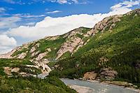 Landscape of the Nenana River, Alaska
