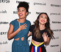 "HOLLYWOOD- DECEMBER 13:  Yara Shahidi and Francia Raisa at the premiere of ""Grown-ish"" at Lure on December 13, 2017 in Hollywood, California. (Photo by Scott Kirkland/PictureGroup)"