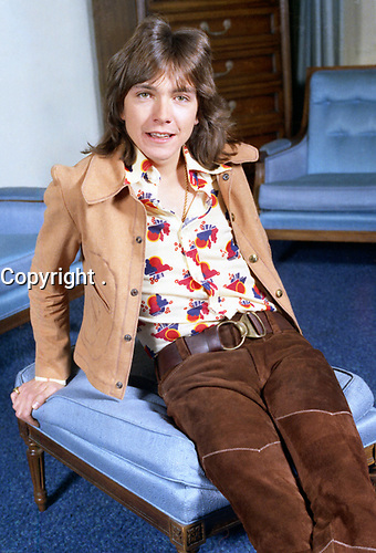 David Cassidy taken in the Plaza Hotel New York<br />  in 1973<br /> <br /> PHOTO : Allan warren