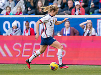 HARRISON, NJ - MARCH 08: Sam Mewis #3 of the United States dribbles during a game between Spain and USWNT at Red Bull Arena on March 08, 2020 in Harrison, New Jersey.