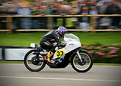 10th September 2017, Goodwood Estate, Chichester, England; Goodwood Revival Race Meeting; A Norton Manx vintage bike races through the Goodwood straight