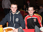Evan and TJ Doheny pictured at St. Kevin's GAA awards night in Philipstown. Photo:Colin Bell/pressphotos.ie