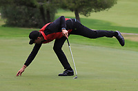 Sebastian Heisele (GER) on the 7th green during Round 4 of the Challenge Tour Grand Final 2019 at Club de Golf Alcanada, Port d'Alcúdia, Mallorca, Spain on Sunday 10th November 2019.<br /> Picture:  Thos Caffrey / Golffile<br /> <br /> All photo usage must carry mandatory copyright credit (© Golffile | Thos Caffrey)
