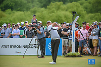 Matt Jones (AUS) watches his tee shot on 1 during round 4 of the AT&T Byron Nelson, Trinity Forest Golf Club, at Dallas, Texas, USA. 5/20/2018.<br /> Picture: Golffile | Ken Murray<br /> <br /> All photo usage must carry mandatory copyright credit (© Golffile | Ken Murray)