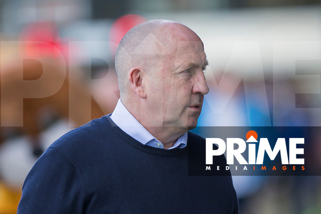Accrington Stanley manager John Coleman ahead of the Sky Bet League 2 match between Newport County and Accrington Stanley at Rodney Parade, Newport, Wales on 22 April 2017. Photo by Mark  Hawkins.