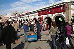 People walking in street of medina, Essaouira, Morocco