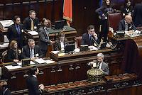 Roma, 15 Marzo 2013.Montecitorio, Camera dei Deputati.Primo giorno in Aula della XVII Legislatura del Parlamento italiano.Nichi Vendola vota per il Presidente della Camera