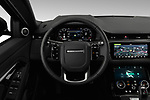 Car pictures of steering wheel view of a 2020 Land Rover Range Rover Evoque First Edition 5 Door SUV