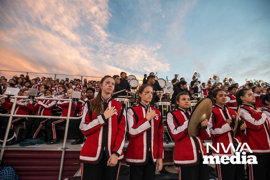 NWA Democrat-Gazette/ANTHONY REYES &bull; @NWATONYR<br /> Springdale against Fort Smith Northside Friday, Oct. 23, 2015 at Jarrell Williams Bulldog Stadium in Springdale.