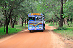 Colourful Lanka Ashok Leyland bus, Polonnaruwa, North Central Province, Sri Lanka, Asia