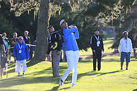 Jake Owen plays his 3rd shot on the 1st hole during Thursday's Round 1 of the 2018 AT&amp;T Pebble Beach Pro-Am, held over 3 courses Pebble Beach, Spyglass Hill and Monterey, California, USA. 8th February 2018.<br /> Picture: Eoin Clarke | Golffile<br /> <br /> <br /> All photos usage must carry mandatory copyright credit (&copy; Golffile | Eoin Clarke)