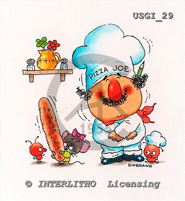 GIORDANO, CHILDREN BOOKS, BIRTHDAY, GEBURTSTAG, CUMPLEAÑOS, humor, paintings+++++,USGI29,#BI#,#H# italian,pizza,cook ,everyday ,everyday