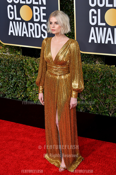 LOS ANGELES, CA. January 06, 2019: Lucy Boynton at the 2019 Golden Globe Awards at the Beverly Hilton Hotel.<br /> Picture: Paul Smith/Featureflash