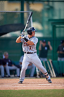 Detroit Tigers catcher Brady Policelli (71) at bat during an Instructional League game against the Atlanta Braves on October 10, 2017 at the ESPN Wide World of Sports Complex in Orlando, Florida.  (Mike Janes/Four Seam Images)