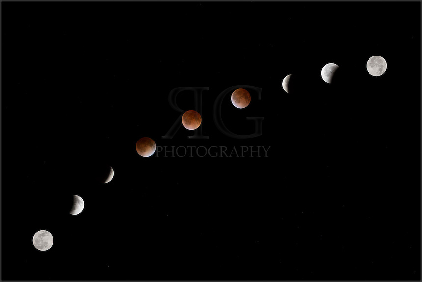 In the early morning hours of April 15, the earth passed between the sun and moon, causing a total luner eclipse and resulting in a &quot;blood moon.&quot;<br />
