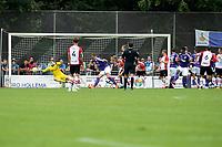 ROLDE - Voetbal, FC Groningen - FC Emmen, voorbereiding seizoen 2018-2019,  21-07-2018,     FC Emmen speler Anco Jansen schiet een vrije trap net naast