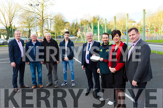 Present at the Listowel Community centre, as the centre received €15,000 for CCTV equipment. Fore ground l to r, Cll John Lucid (Chathaoirleach Listowel Municipal District), Tony Diggins (Listowel Community Centre), Joan McCarthy  and Andy Smith (Kerry Co Council), and in the back Cllr: Mike Kennelly, Jim Beasley, Donal O'Sullivan, David Murphy.