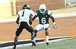 DENTON, TX - AUGUST 31:North Texas Mean Green defensive back Hilbert Jackson (6) of the North Texas Mean Green Football vs Idaho Vandals at Apogee Stadium in Denton on August 31, 2013 in Denton, Texas. Photo by Rick Yeatts