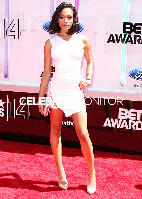 LOS ANGELES, CA, USA - JUNE 29: Bria Murphy arrives at the 2014 BET Awards held at Nokia Theatre L.A. Live on June 29, 2014 in Los Angeles, California, United States. (Photo by Xavier Collin/Celebrity Monitor)
