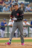 Arizona Diamondback Jake Lamb (5) on rehab assignment playing for the Visalia Rawhide in action against the Rancho Cucamonga Quakes at LoanMart Field on May 13, 2018 in Rancho Cucamonga, California. The Quakes defeated the Rawhide 3-2.  (Donn Parris/Four Seam Images)