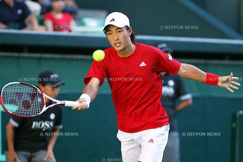 Go Soeda (JPN), September 18, 2011 - Tennis : Davis Cup 2011, World Group play-off at Ariake Colosseum, Tokyo, Japan. (Photo by Daiju Kitamura/AFLO SPORT) [1045]