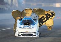 Feb 8, 2020; Pomona, CA, USA; NHRA funny car driver John Force during qualifying for the Winternationals at Auto Club Raceway at Pomona. Mandatory Credit: Mark J. Rebilas-USA TODAY Sports
