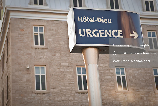 The Hotel-Dieu campus of the Montreal CHUM | Stock photos by
