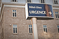 The Hotel-Dieu campus of the Montreal CHUM is pictured in Montreal Friday October 26, 2012. One of the three hospitals making up the Centre hospitalier de l'Universite de Montréal (CHUM), the Hotel-Dieu de Montreal is the oldest hospital in Montreal, Canada.