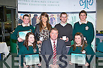 AWARDS: The students of Killorglin Community College who received their Kerry Education Student Awards at IT Tralee on Friday seated l-r: Stefany Grffin, Con Moynihan (principal) and Saoirse Mangan. Back l-r: Shane Clifford, Adrienne Brosnan, Jason Dulea and Andrew Henry.