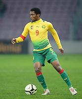 FUSSBALL   INTERNATIONAL   Testspiel    Albanien - Kamerun       14.11.2012 Samuel Eto o (Kamerun) am Ball
