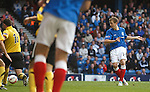Robbie Crawford scores the fourth goal for Rangers