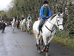 Riders prepare for the Louth Hunt. Photo: Colin Bell/pressphotos.ie