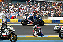 May. 23, 2010 - Le Mans, France - Karel Abraham crashes out during the Moto2 race of the French Grand Prix on May 23, 2010 in Le Mans, France. (Photo Andrew Northcott/Nippon News)